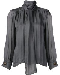 Yves Saint Laurent Vintage French Cuff Blouse - Lyst