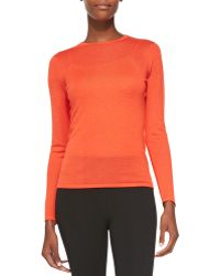 Ralph Lauren Black Label Cashmere-Blend Long-Sleeve Sweater - Lyst