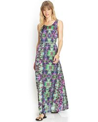 Love 21 Crossback Woven Maxi Dress - Lyst