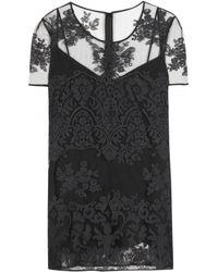 Burberry Prorsum Black Lace Top - Lyst
