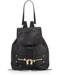 Milly Riley Goatskin Leather Backpack  - Lyst