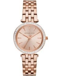 Michael Kors Mini Darci Rose Goldtone Stainless Steel Glitz Bracelet Watch - Lyst