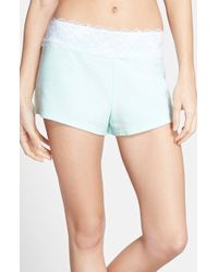 Betsey Johnson Lace Trim Terry Shorts blue - Lyst