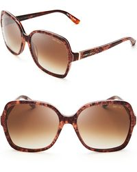 Jimmy Choo Lori Pythonprint Oversized Sunglasses - Lyst