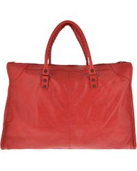 Balenciaga Borsa in Pell Weekend - Lyst