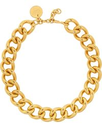 Alexander McQueen Gold Goldplated Necklace - Lyst
