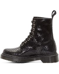Dr. Martens Black Snakeskin 8_Eye 1460 Boots black - Lyst