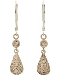 Devon Page Mccleary - Pave Diamond White Gold Teardrop Earrings - Lyst
