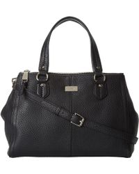 Cole Haan Village Double Top Zip Satchel - Lyst