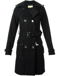 MICHAEL Michael Kors Double Breasted Coat - Lyst