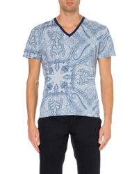Etro Paisley-print Cotton-jersey T-shirt - Lyst