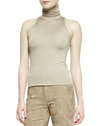 Ralph Lauren Collection Sleeveless Silk Cashmere Turtleneck Top  - Lyst