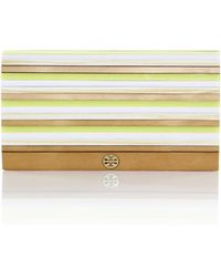 Tory Burch Rayna Striped Resin Clutch - Lyst
