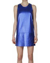 3.1 Phillip Lim Leather Bicolored Dress - Lyst