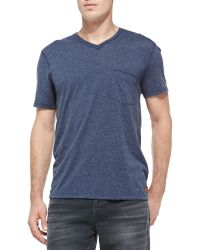 7 For All Mankind Rawedge Vneck Tee - Lyst
