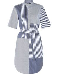 Band Of Outsiders Patchwork Short Sleeve Dress - Lyst
