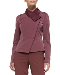 Lafayette 148 New York Estelle Asymmetric Peplum Jacket - Lyst