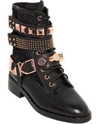 Ivy Kirzhner - 40Mm Leather & Ponyskin Belted Boots - Lyst