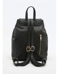Deena & Ozzy   Hinge Lock Backpack In Black   Lyst