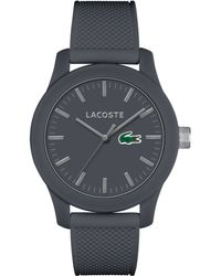 Lacoste Mens L1212 Gray Silicone Strap Watch 43mm - Lyst