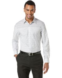 Perry Ellis Diamond Print Sport Shirt - Lyst