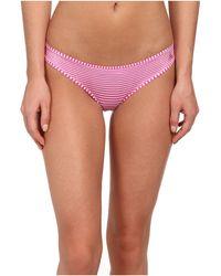 Betsey Johnson Slinky Knit Cheeky Bikini - Lyst