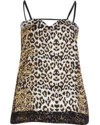 River Island Brown Leopard Print Pyjama Cami Top - Lyst
