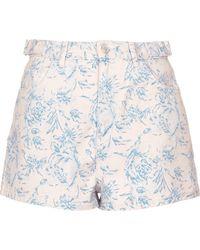 TOPSHOP - Moto Pastel Floral Mom Shorts - Lyst