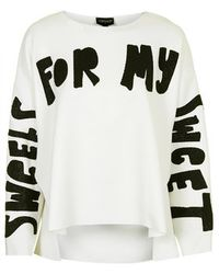 Topshop Sweets Slogan Sweat - Lyst