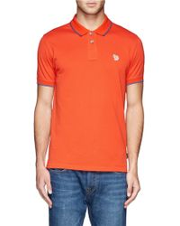 Paul Smith Zebra Logo Polo Shirt - Lyst