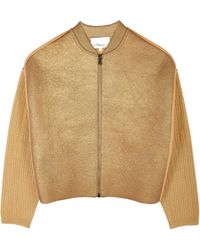 3.1 Phillip Lim Felted Wool Jacket with Foil - Lyst