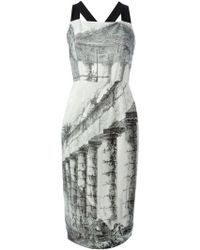 Dolce & Gabbana Temple Print Dress - Lyst