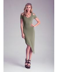 Bebe Asymmetric Dress - Lyst