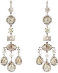 NSR Nina Runsdorf - Diamond & White-gold Earrings - Lyst