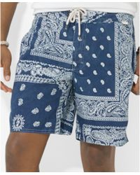 Ralph Lauren Polo Palm Island Bandannaprint Swim Trunks - Lyst