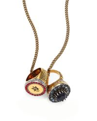Alexander McQueen | Crystal Ring Pendant Necklace | Lyst