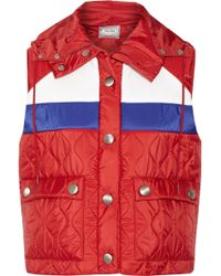 Miu Miu Hooded Quilted Shell Vest - Lyst