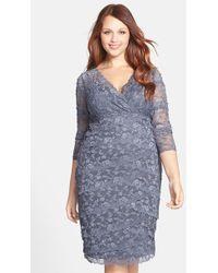 Marina Embellished Lace Dress - Lyst