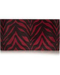 Tamara Mellon - Fever Zebraprint Calf Hair Clutch - Lyst