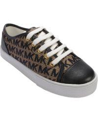 Michael Kors Michael Girls' Or Little Girls' Mk Logo Sneakers black - Lyst