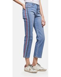 MSGM - Jeans A Vita Alta - Lyst