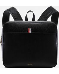 Thom Browne - Black Leather Backpack - Lyst