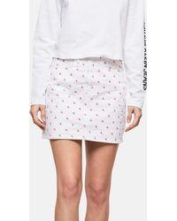 Calvin Klein - High Rise All-over Logo Mini Skirt - Lyst