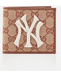 Gucci - Original Gg Canvas Wallet With New York Yankees Patch - Lyst