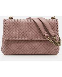Lyst - Bottega Veneta Medium Olimpia Bag In Vesuvio Intrecciato ... 41e2a4ef46