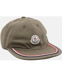 0bcd0aec1b1 Lyst - Moncler Navy Stripe Logo Baseball Cap in Blue for Men