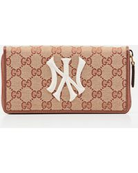 Gucci - Original GG Zip Around Wallet With New York Yankees Patchtm - Lyst