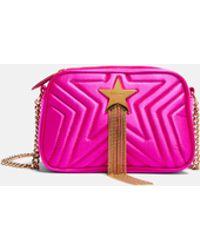 65dd830d3a044 Lyst - Stella McCartney Falabella Mini Shoulder Bag in Yellow