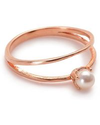 Bing Bang - Pearl Illusion Ring - Lyst
