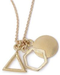 Bing Bang - Geo Charm Pendant Necklace - Lyst